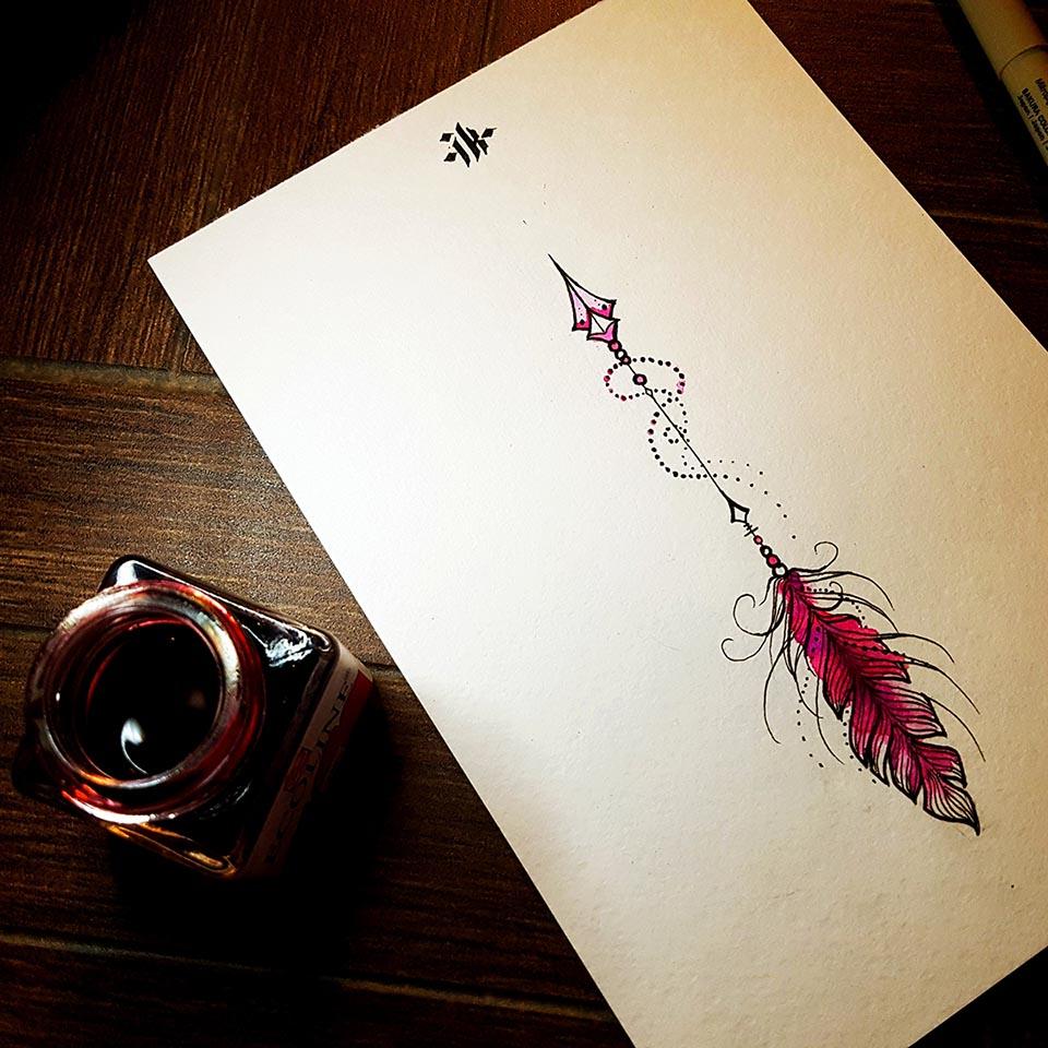 arrow-feather-tattoo-татуировка-стрела