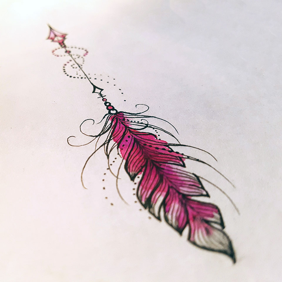 arrow-feather-tattoo-татуировка-стрела2