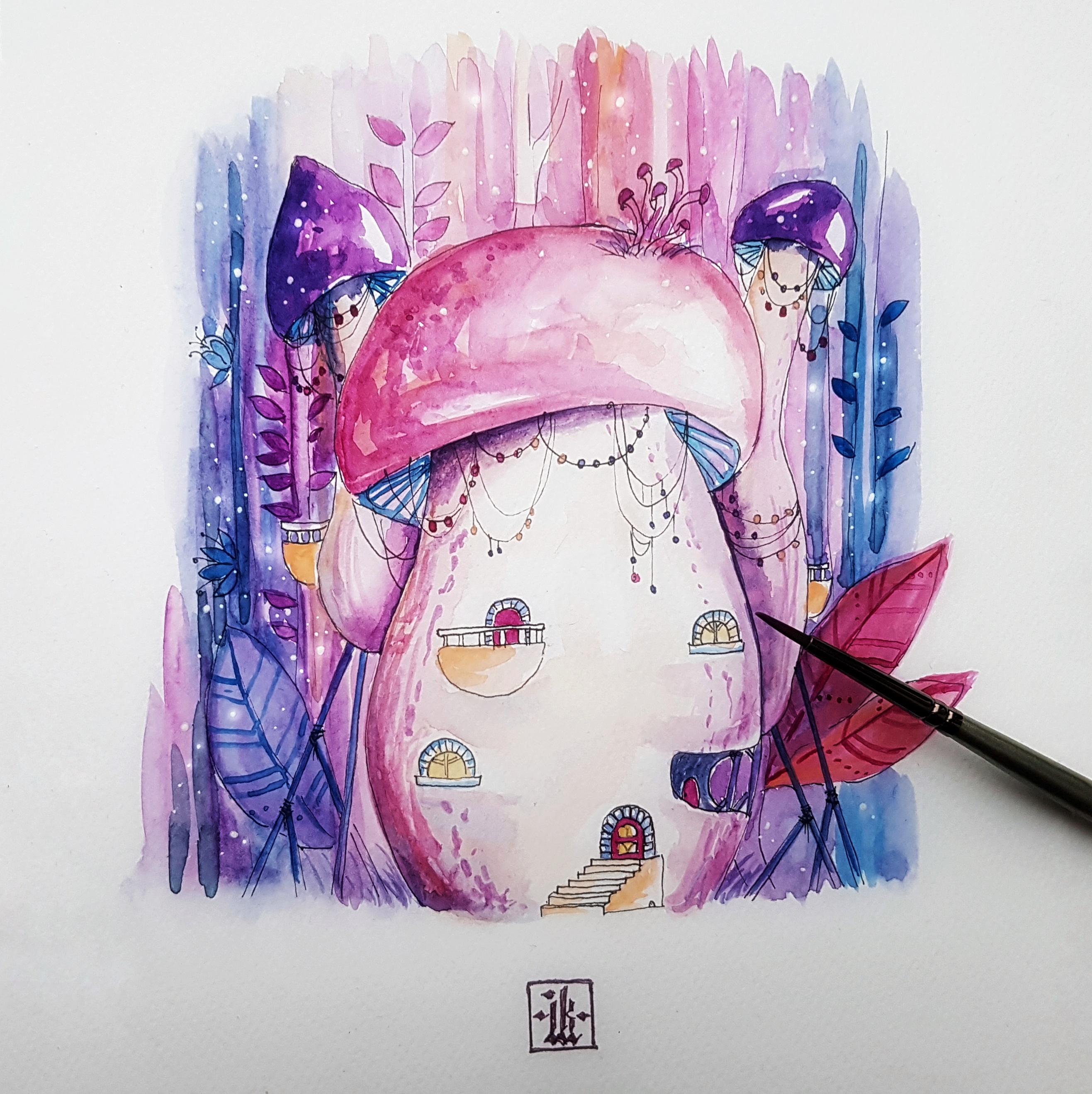 иллюстрация-дом-гриб