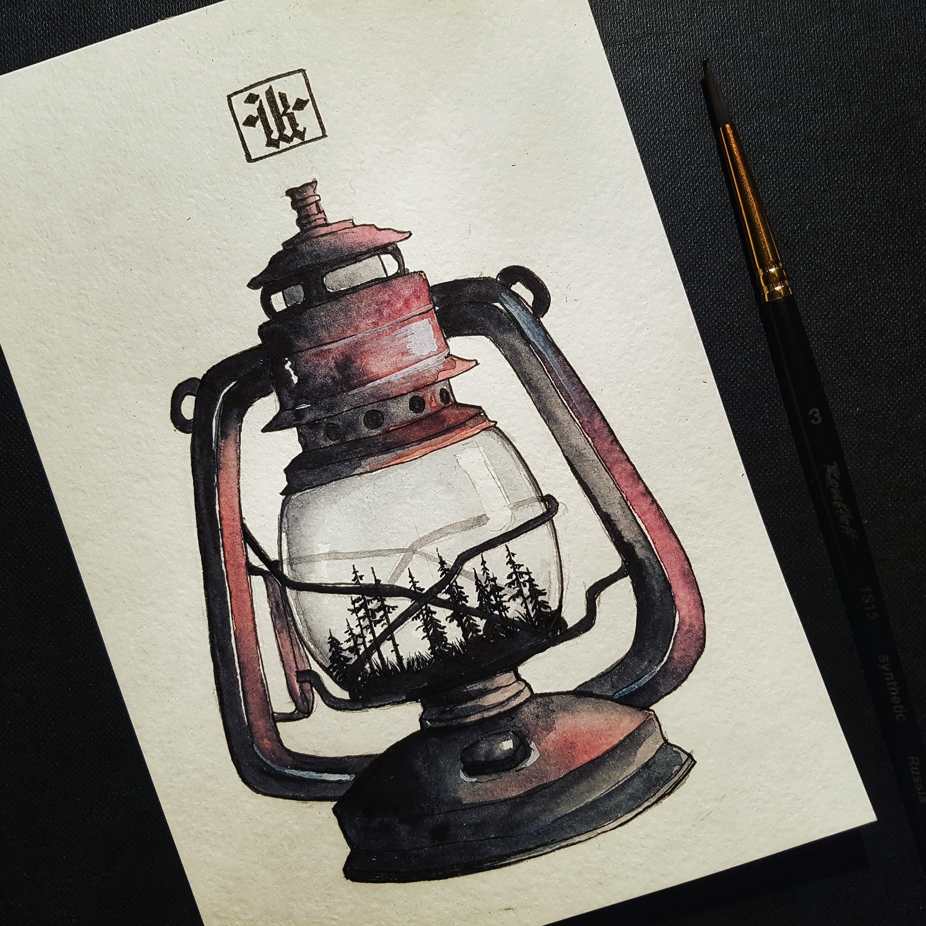 lantern-in-a-forest